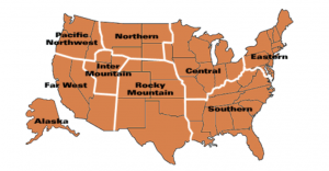 NSP regional map